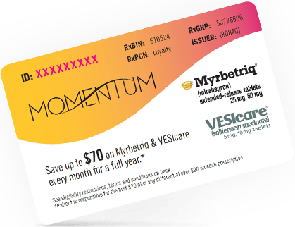 Myrbetriq & VESIcare savings card