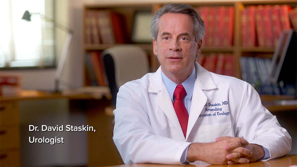 Play video of Dr David Staskin, Urologist